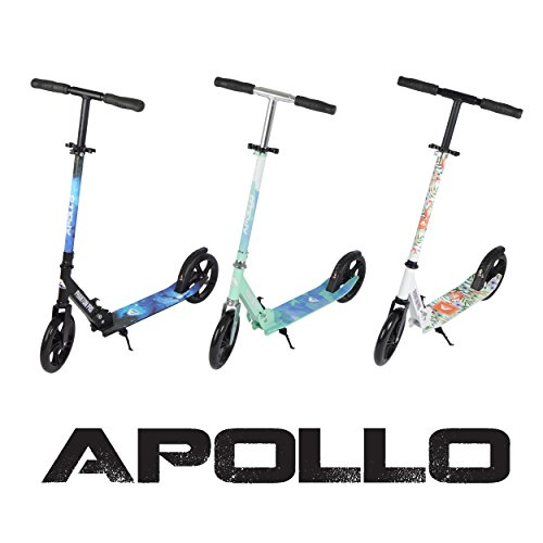 Apollo XXL Wheel Scooter - Phantom Pro City Scooter, Klappbarer City-Roller, höhenverstellbar, Tret-Roller für…