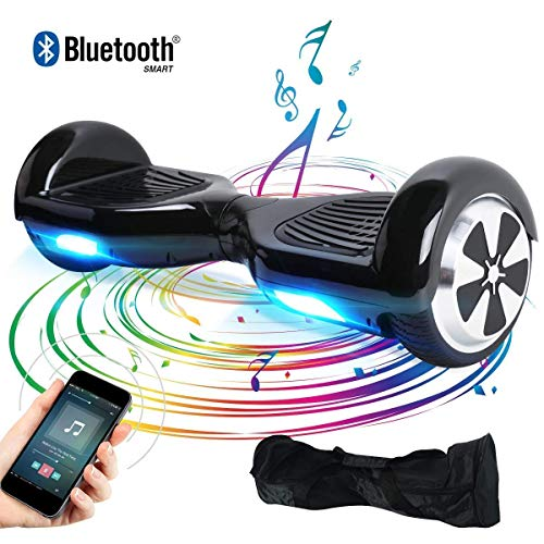 "BEBK Elektro Scooter, 6.5"" Hoverboard, Self Balance Scooter mit Bluetooth Lautsprecher, 2 * 250W Motor, LED Lights (Red)"