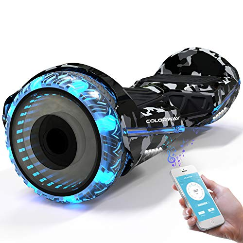 COLORWAY CX911 Advanced Premium Hover Scooter Board Elektro Scooter - SUV 6,5 Zoll Motor 350W*2 - Elektroroller-mit Bluetooth und App -Voll-LED-Räder