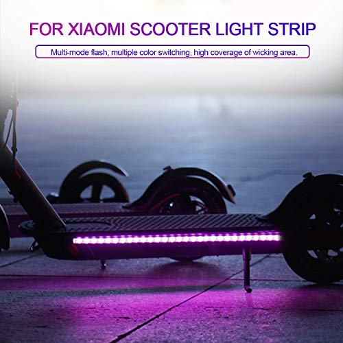 jinclonder Led Strip Lights für Xiaomi M365 Elektroroller Zubehör, Durable Strip Light Scooter Faltbare LED Light-Up…
